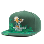 Бейсболка Mitchell & Ness - Milwaukee Bucks Squadra Snapback