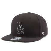 Бейсболка '47 Brand - Los Angeles Dodgers No Shot Snapback (black/white)