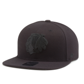 Бейсболка '47 Brand - Chicago Blackhawks Sure Shot BlackOnBlack Snapback