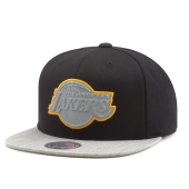 Бейсболка Mitchell & Ness - Los Angeles Lakers Heather Reflective Snapback
