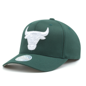 Бейсболка Mitchell & Ness - Chicago Bulls White Out Snapback (green/white)