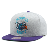 Бейсболка Mitchell & Ness - Charlotte Hornets Heather Fleece 2 Tone Pinch Snapback