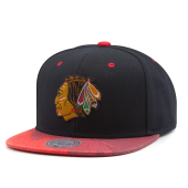 Бейсболка Mitchell & Ness - Chicago Blackhawks Paintbrush Visor Snapback