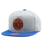 Бейсболка Mitchell & Ness - New York Knicks Heather Fleece 2 Tone Pinch Snapback