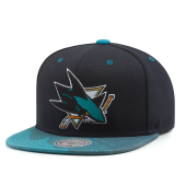 Бейсболка Mitchell & Ness - San Jose Sharks Paintbrush Visor Snapback