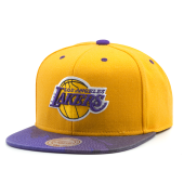 Бейсболка Mitchell & Ness - Los Angeles Lakers Paintbrush Visor Snapback