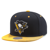 Бейсболка Mitchell & Ness - Pittsburgh Penguins Paintbrush Visor Snapback