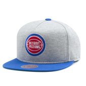 Бейсболка Mitchell & Ness - Detroit Pistons Heather Fleece 2 Tone Pinch Snapback