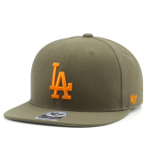 Бейсболка '47 Brand - Los Angeles Dodgers No Shot Snapback (sandalwood)