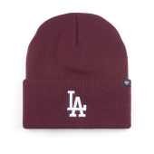Шапка '47 Brand - Los Angeles Dodgers Haymaker '47 Cuff Knit (dark maroon)