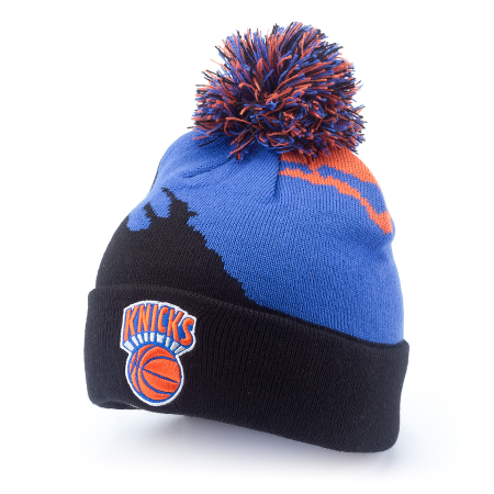 df79f58d9 Шапка Mitchell & Ness New York Knicks Paintbrush Cuff W/Pom Knit