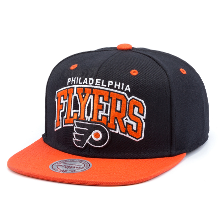 4167c26932e Бейсболка Mitchell   Ness - Philadelphia Flyers Double Up Arch Snapback