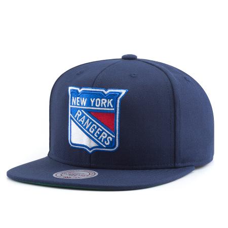 Blue Mitchell /& Ness New York Rangers TC Heather Script Beanie