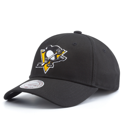 Бейсболка Mitchell & Ness - Pittsburgh Penguins Team Logo Cotton Low Pro Strapback