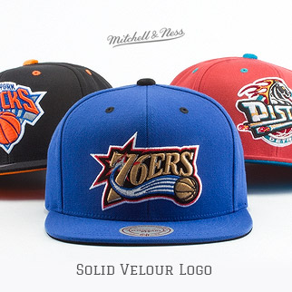 Mitchell & Ness - Solid Velour Logo Snapback